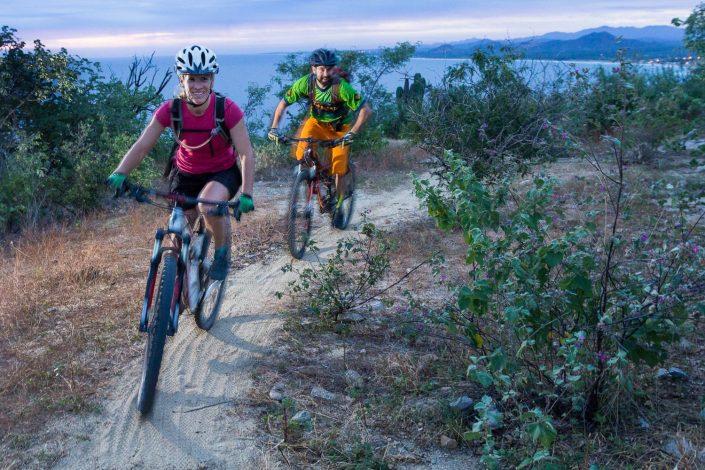 Mountain Bikers Riding Trail in Baja