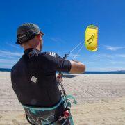 Kite lesson beach flying