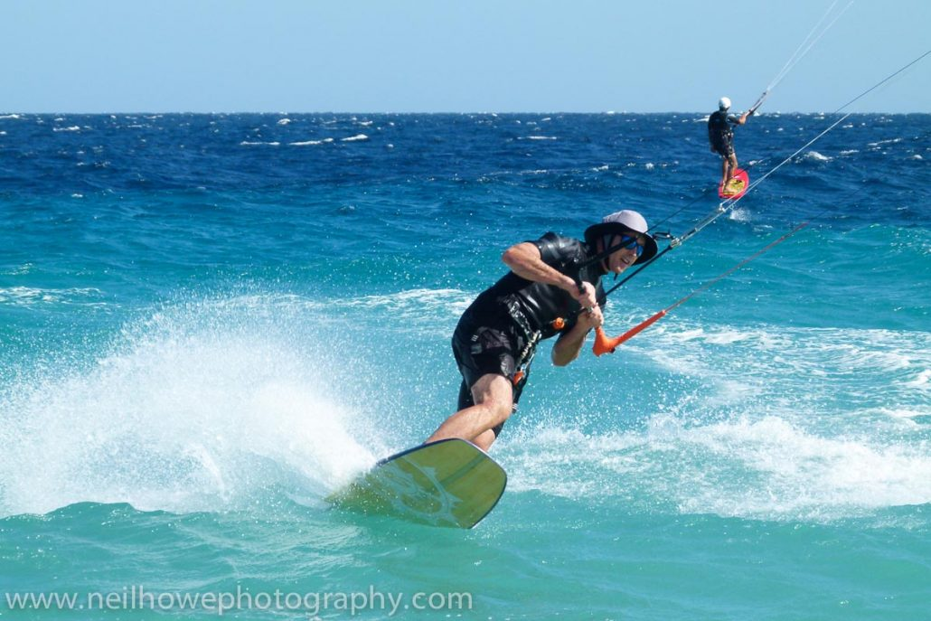 kiteboarding at Vela Baja
