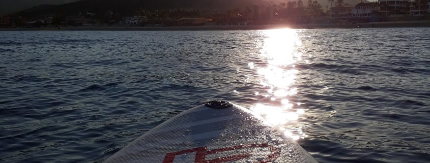 Stand Up Paddle boarding in Baja Mexico at Sunset