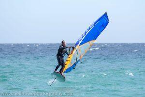 MacRae Wylde mid windfoil gybe