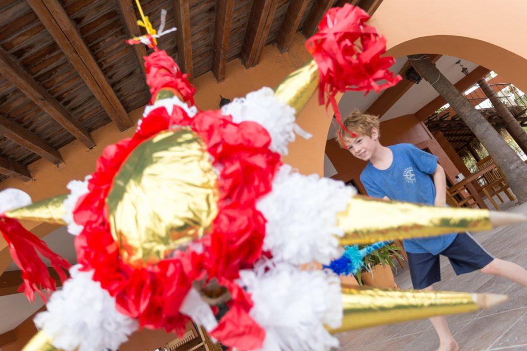 xmas piñata at Vela Baja