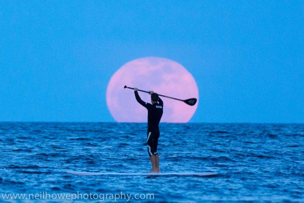 full moon at New Year