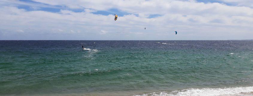 Kiteboarding scene at Vela Baja Mexico