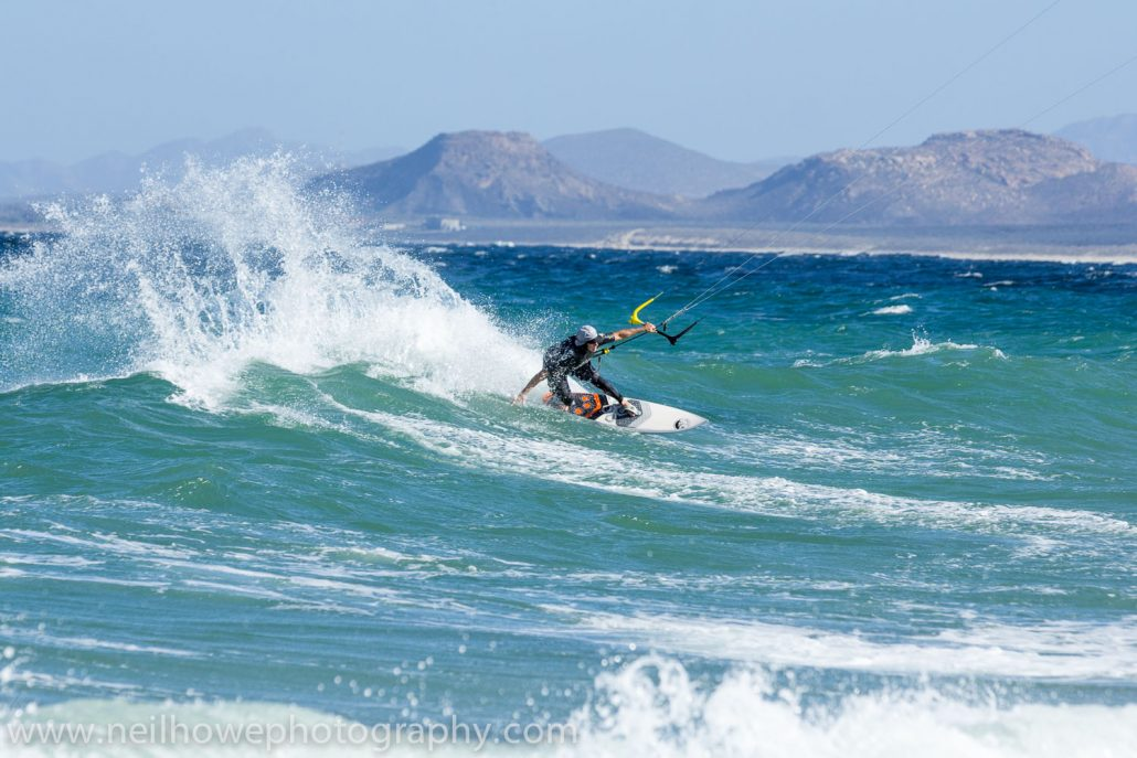 Kitesurfing at Vela Baja