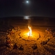 Winter Solstice and full moon bonfire