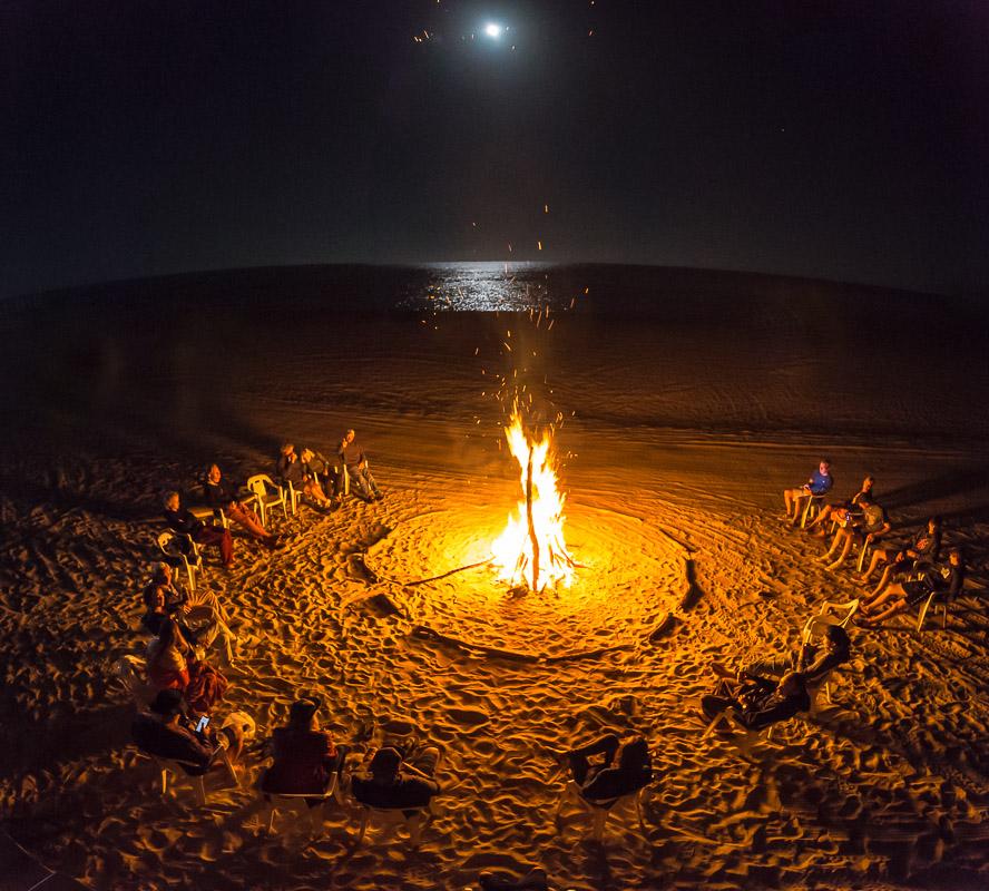 Winter Solstice and full moon bonfire