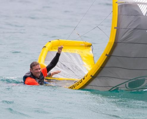 Taco time - kite self rescue practise