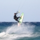 Eric strapless kitesurf jump at vela baja